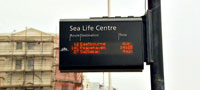 Real-time information display in Brighton