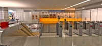 Modernised Hillhead station interior
