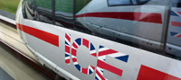 Deutsche Bahn ICE London graphic