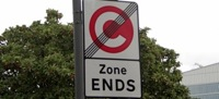 Congestion Charge end zone sign