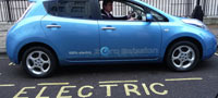 electric car in parking bay