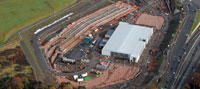 Edinburgh tram depot - November 2010
