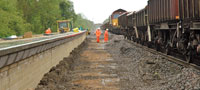 Track redoubling and platform reinstatement