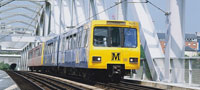 Metro train heading towards Pelaw
