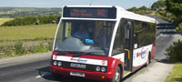 Optare bus serving rural route