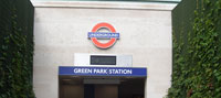 Green Park station park entrance (2011)