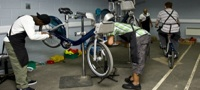 Serco workshop for Barclays Cycle Hire scheme