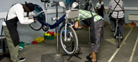 Serco Cycle Hire workshop