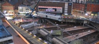 New section of Navigation Street footbridge (Dec 2010)
