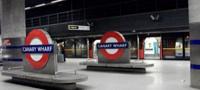 Canary Wharf station Jubilee line platforms