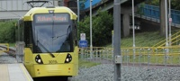 Metrolink tram to Oldham Mumps