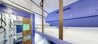 Inside Caledonian Sleeper carriage