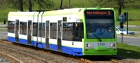 Tramlink original tram in TfL green livery