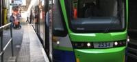 Tramlink Stadler Variobahn tram at Wimbledon