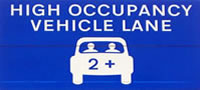 high occupancy vehicle lane sign