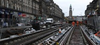 Edinburgh tram line, West Maitland (October 2012)