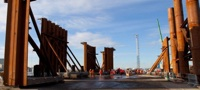 FRC central column cofferdam sections at Rosyth
