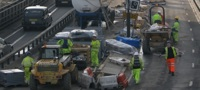 Hammersmith flyover roadworks