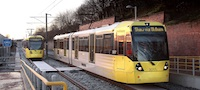 Metrolink Oldham line (December 2012)
