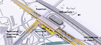 HS2 Sheffield Meadowhall station diagram