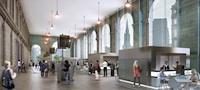 Newcastle Central refurbished portico artist's impression