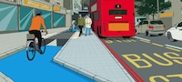 Cycle Superhighway bus stop bypass