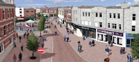 Loughborough town centre artist's impression