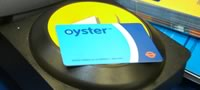 Oyster card on reader