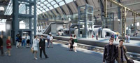 Provisional design of the new footbridge inside the main train shed