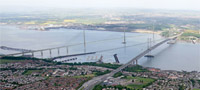 Forth Replacement Crossing and existing bridges- artist's impression
