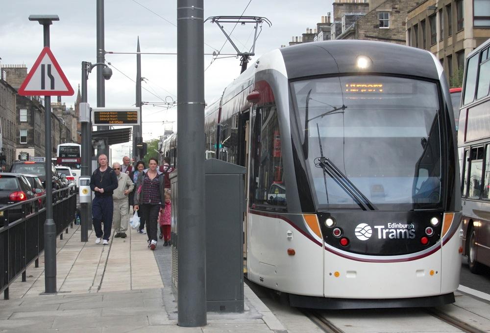 Edinburgh tram at York Place