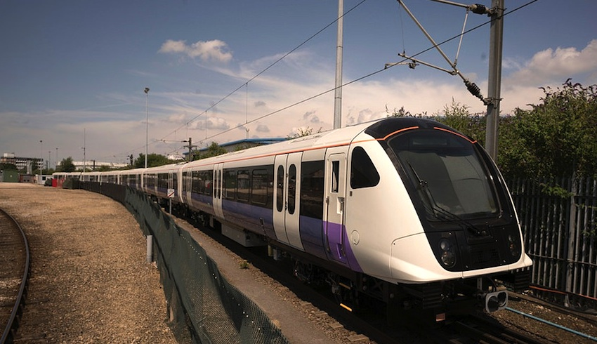Class 345 on test at Derby
