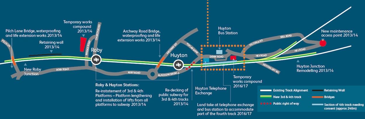 Huyton area Northern Hub improvements
