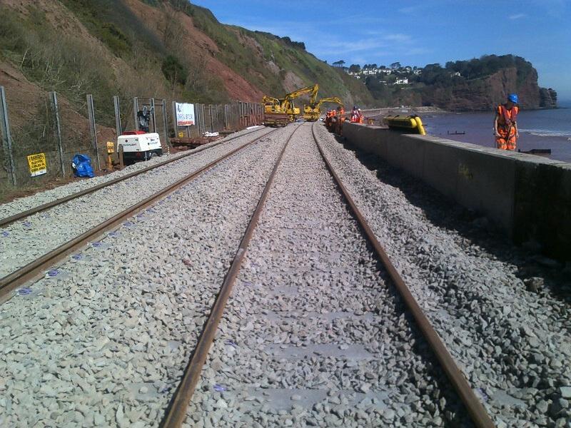 rail track at Dawlish