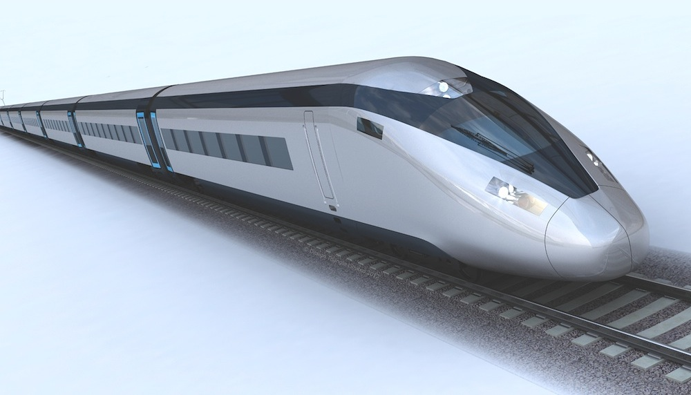 HS2 train mock-up