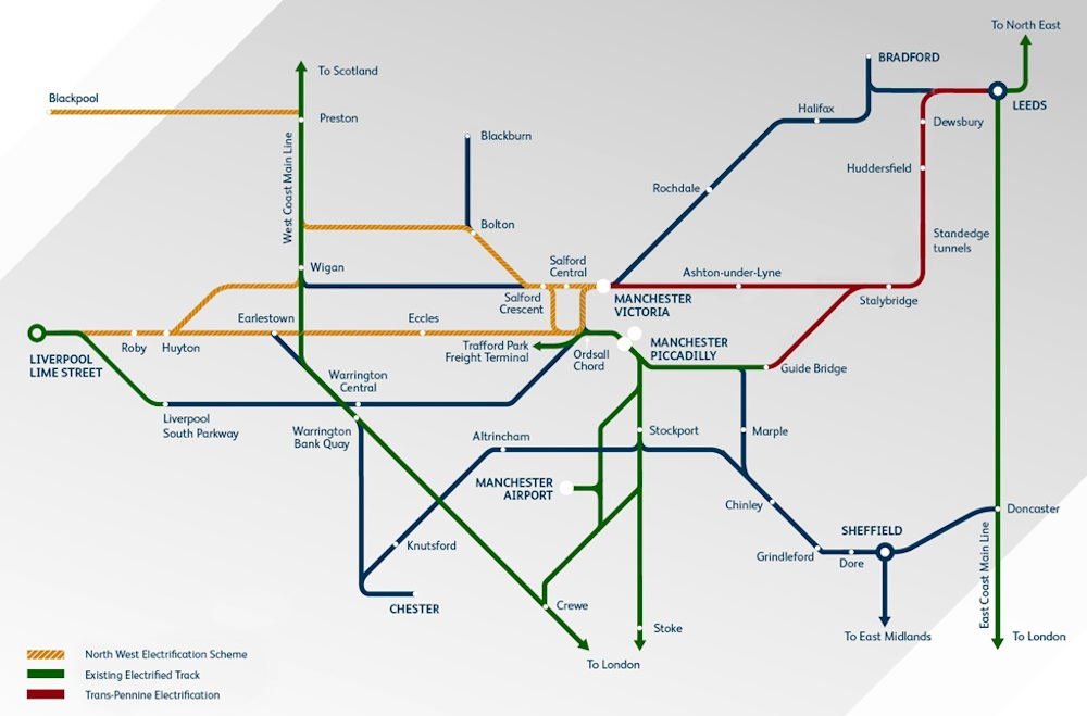 north west electrification map