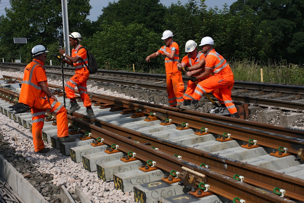 rail track workers