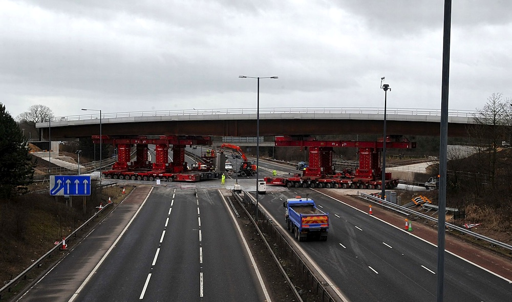 Thorley Lane bridge over M56