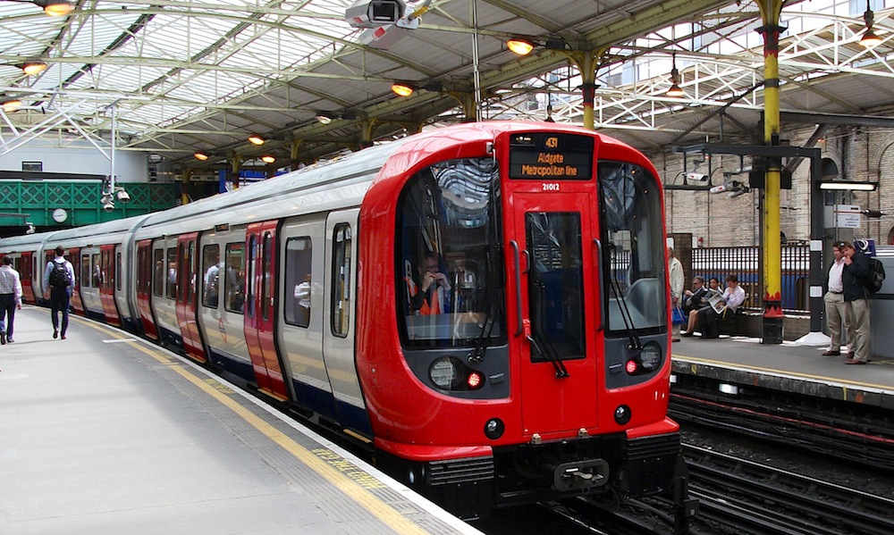 S-Stock train at Farringdon station