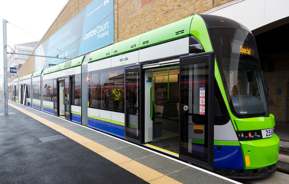 Wimbledon tram platform