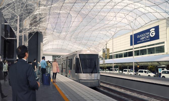 Glasgow Airport tram-train