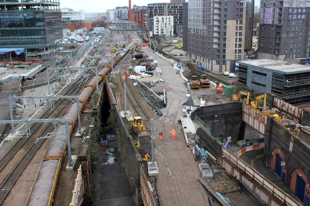 Manchester Victoria track reconfiguration