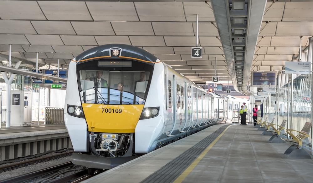 Class 700 train at Blackfriars station
