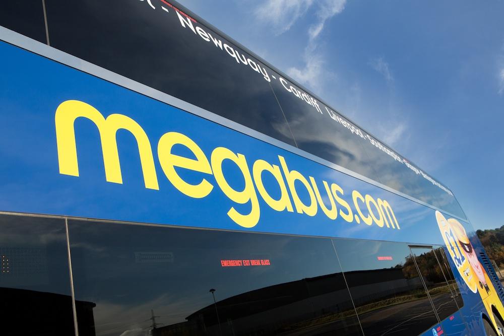 Megabus bus side panel