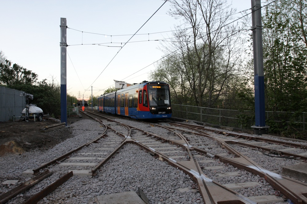 connection between Supertram and national rail network