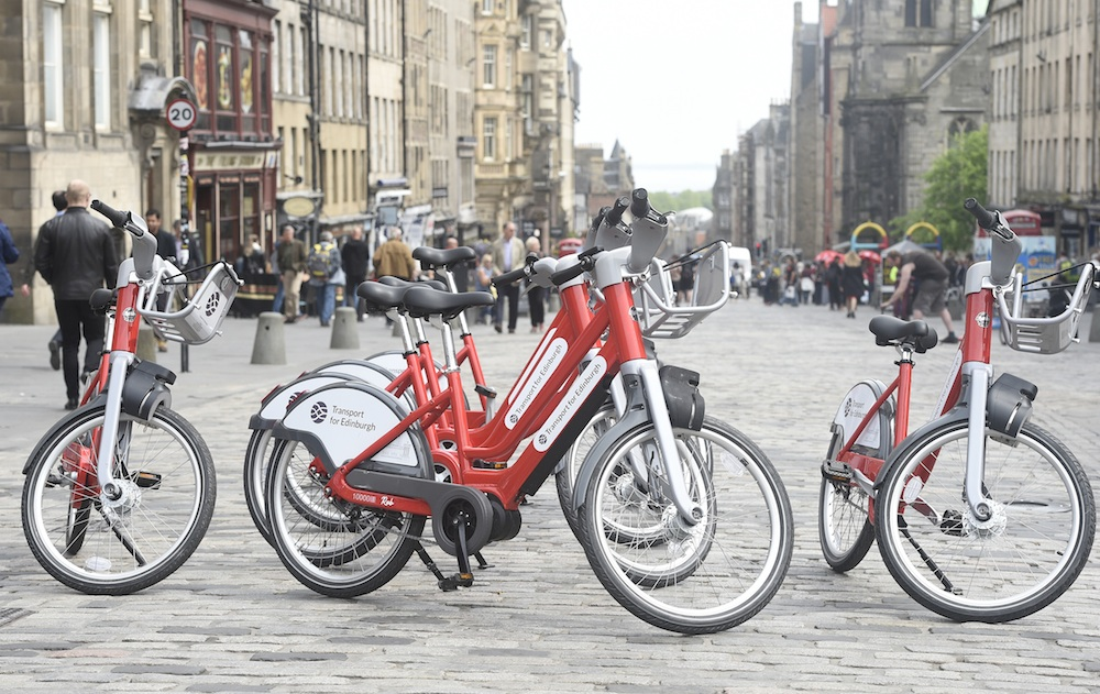 Edinburgh cycle hire bikes