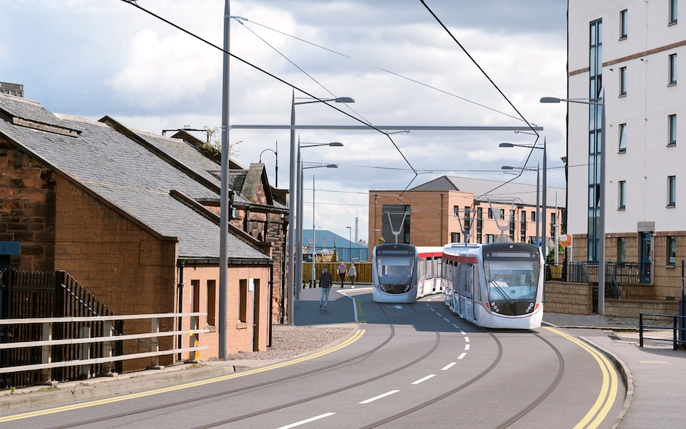 Edinburgh tram Newhaven route - Ocean Drive
