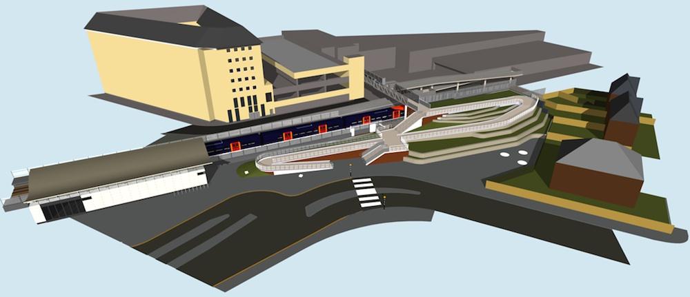 Feltham station CGI