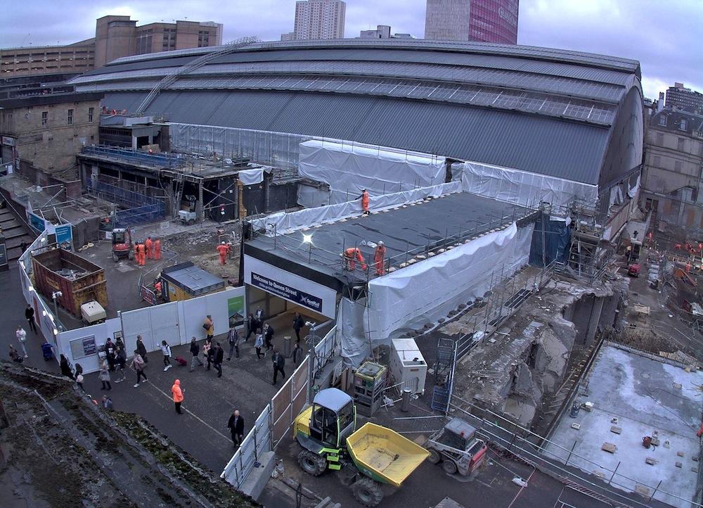 Glasgow Queen Street demolition work