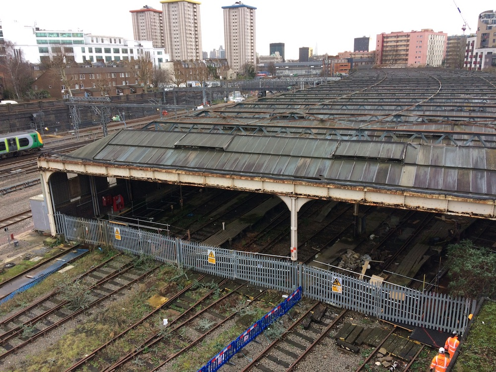 Euston carriage shed before demolition